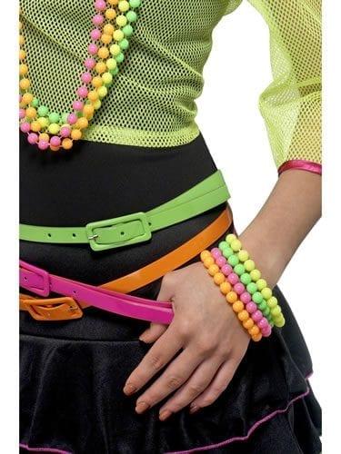 Neon Coloured 4 Pack Beaded Bracelets