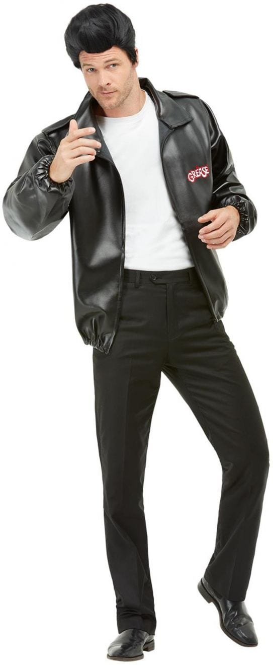 Grease T-Bird Jacket Mens Fancy Dress Costume