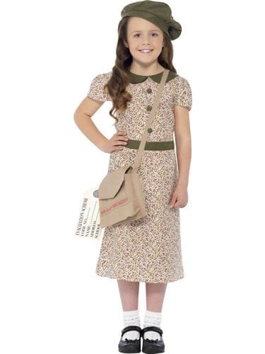 Evacuee Girl Children's Fancy Dress Costume