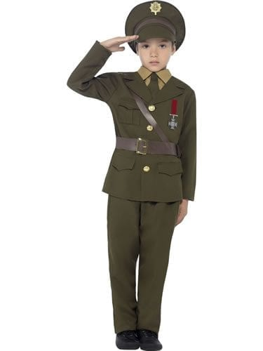 Army Officer Children's Fancy Dress Costume