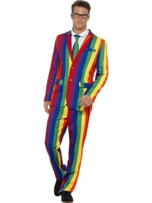 Over the Rainbow Standout Suit Men's Fancy Dress Costume