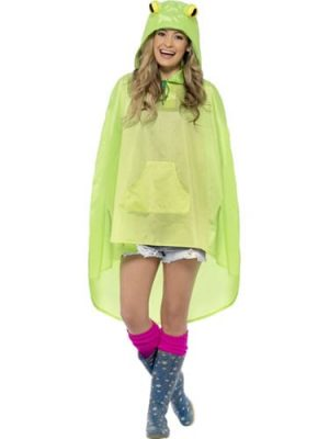 Frog Party Poncho Ladies Fancy Dress Costume