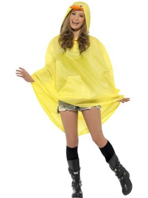 Duck Party Poncho Ladies Fancy Dress Costume