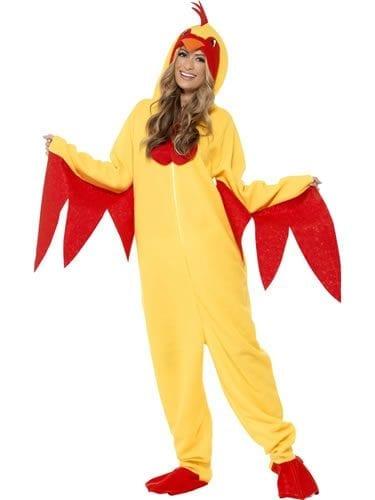 Chicken Fleece Unisex Animal Fancy Dress Costume