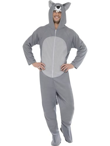 Wolf (Onesie) Unisex Adult Fancy Dress Costume