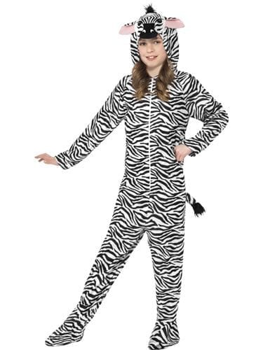 Zebra Unisex Children's Fancy Dress Costume