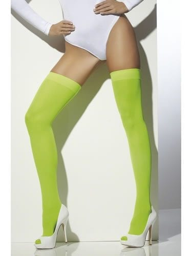 Neon Green Thigh High Stockings