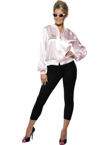 Grease Pink Lady Jacket Ladies Fancy Dress Costume