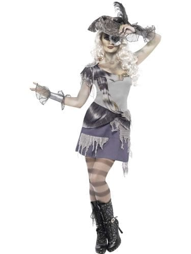 Ghost Ship Madame Voyage Ladies Halloween Fancy Dress Costume