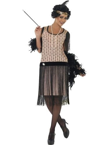 1920's Coco Flapper Ladies Fancy Dress Costume