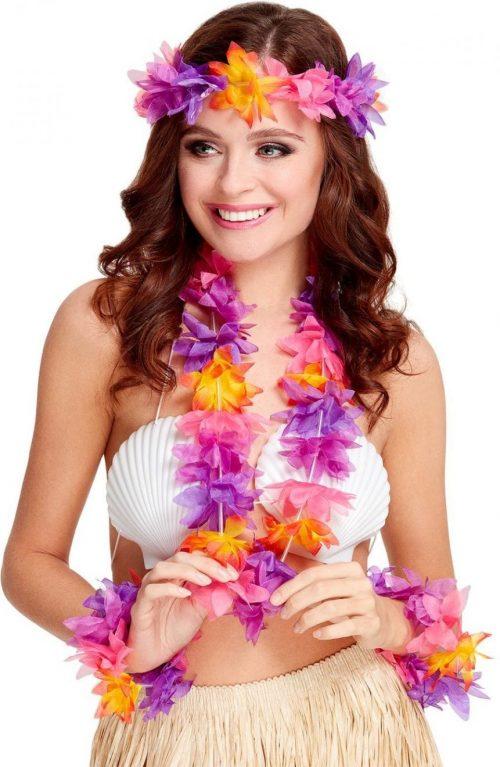 Hawaiian 4 Piece Multi-Coloured Set