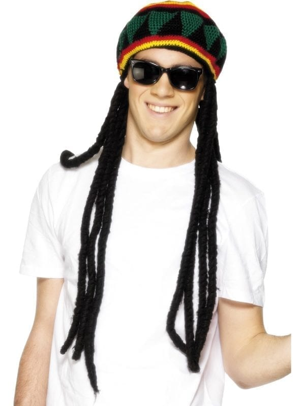 Rasta Beret with Attached Dreadlocks