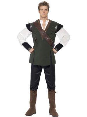Deluxe Robin Hood Mens Fancy Dress Costume