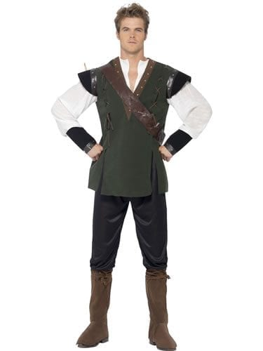 Deluxe Robin Hood Mens Fancy Dress Costume