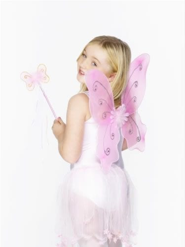 Child's Pink Butterfly Wing Set