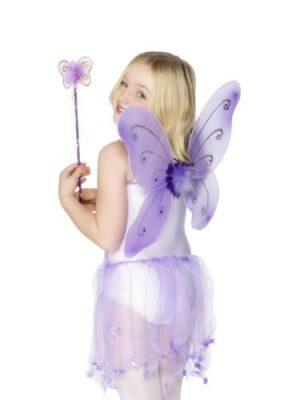 Child's Purple Butterfly Wing Set