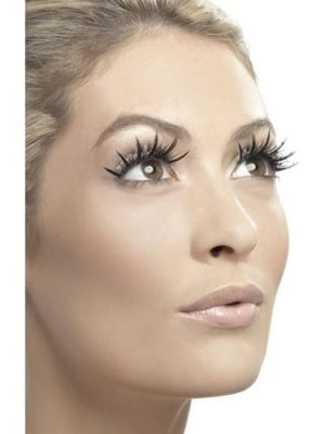 Fever Collection Black Eyelashes with fabric Tops