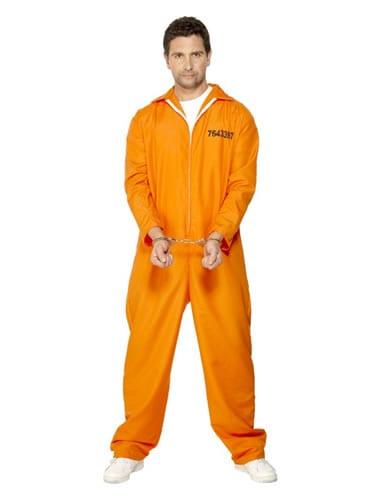 Escaped Prisoner Mens Fancy Dress Costume