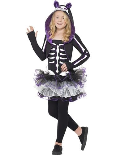 Skelly Cat Halloween Childrens Fancy Dress Costume