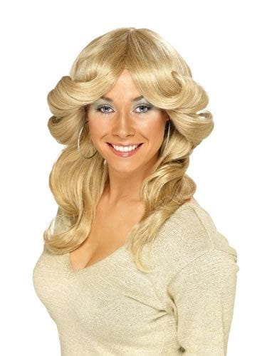 70's Layered Flick Wig Blonde