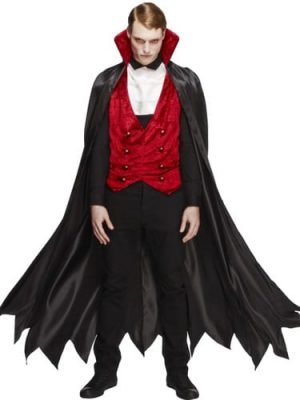 Fever Collection Vampire Mens Fancy Dress Costume