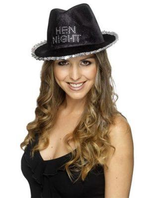 Black Hen Night Fedora Hat