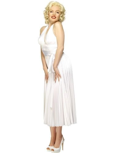 Marilyn Monroe Rental Quality Ladies Fancy Dress Costume