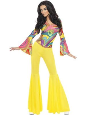 Fever Collection 70's Groovy Babe Ladies Fancy Dress Costume