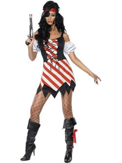 Fever Collection Pirate Ladies Fancy Dress Costume