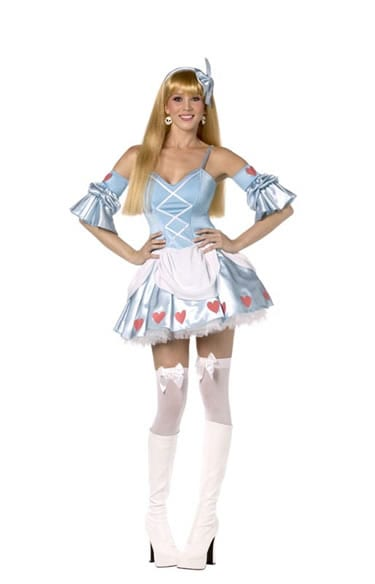 Rebel Toons Alice in Wonderland Ladies Fancy Dress Costume