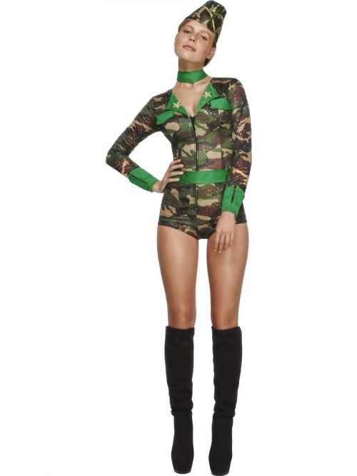 Fever Collection Deluxe Combat Chick Ladies Fancy Dress Costume