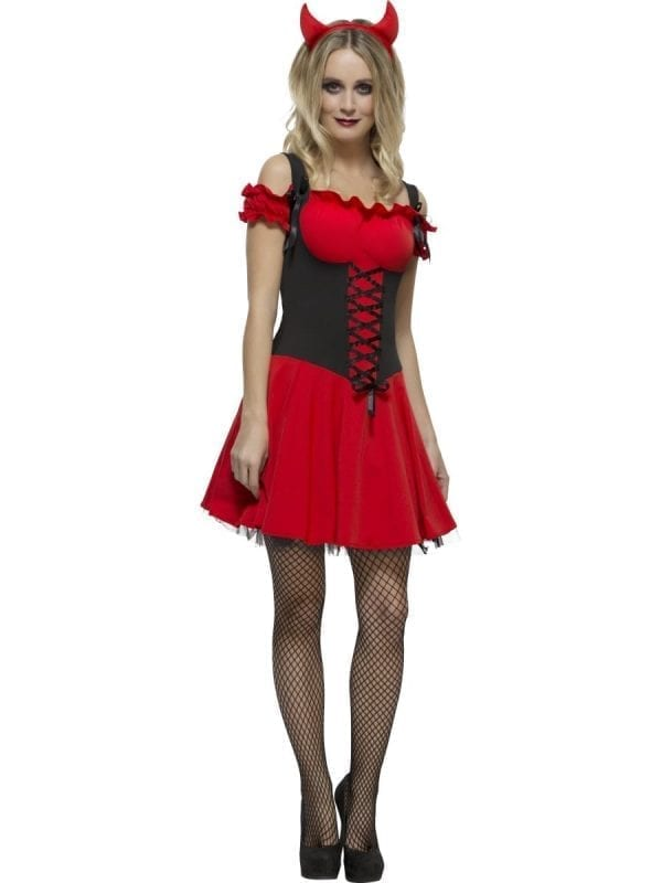 Fever Wicked Devil Ladies Halloween Fancy Dress Costume