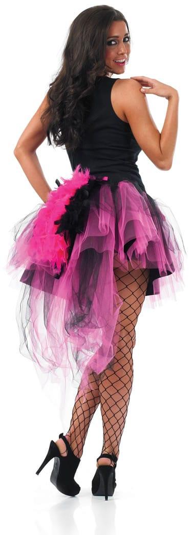 Pink & Black Feather Tail Tutu