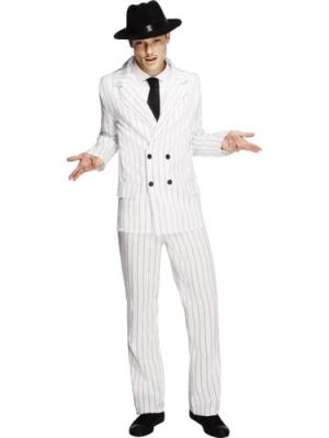 Fever Collection Gangster Mens Fancy Dress Costume