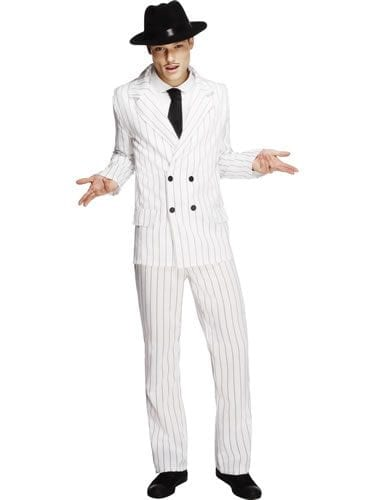 Fever Collection Gangster Mens Fancy Dress Costume
