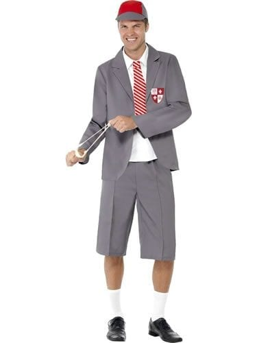 School Boy Men's Fancy Dress Costume