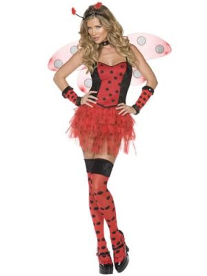 Fever Collection Ladybug Ladies Fancy Dress Costume