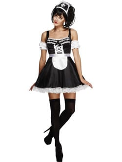 Fever Collection Flirty French Maid Ladies Fancy Dress Costume