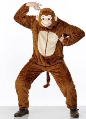 Monkey Unisex Animal Fancy Dress Costume