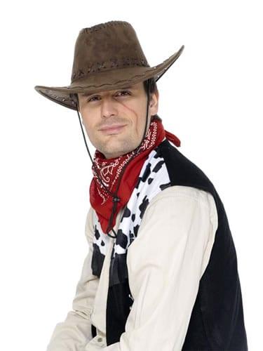 Brown Suede Look Cowboy Hat