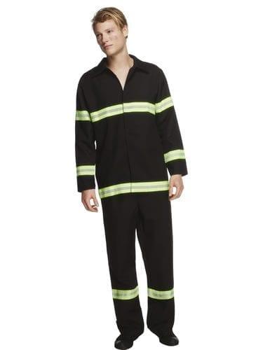 Fever Collection Fireman Mens Fancy Dress Costume