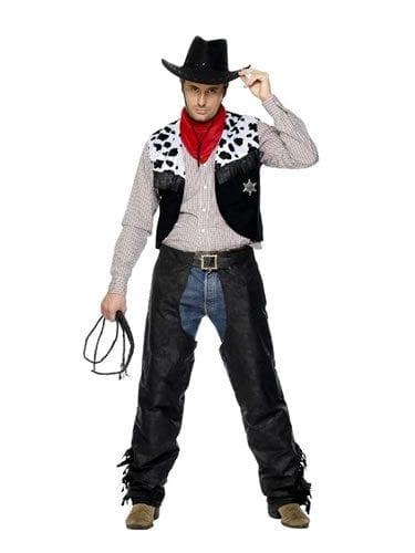 Cowboy Set Mens Fancy Dress Costume