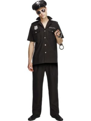 Fever Collection Cop Mens Fancy Dress Costume
