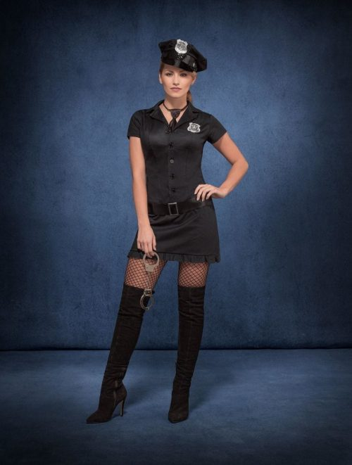 Fever Collection Naughty Cop Ladies Fancy Dress Costume