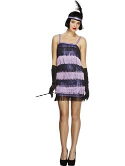 Fever Collection Flapper Ladies Fancy Dress Costume