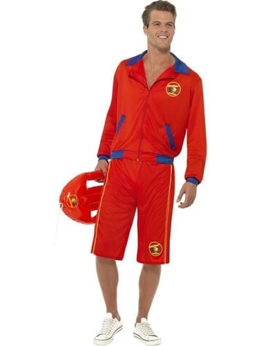 Baywatch Beach Lifeguard Men's Fancy Dress Costume