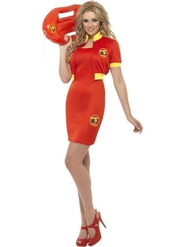 Baywatch Beach Lifeguard Ladies Fancy Dress Costume