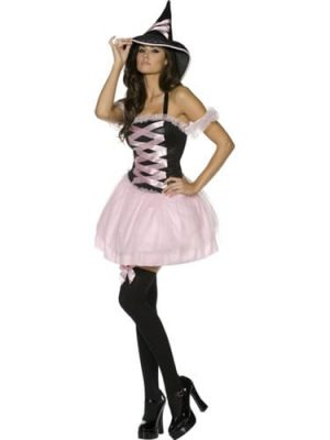 Fever Collection Pretty Witch Halloween Ladies Fancy Dress Costu