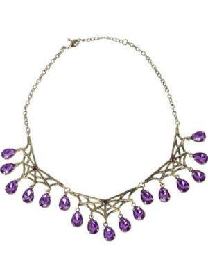 Gothic Manor Spiderweb Necklace