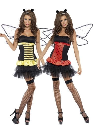 Fever Collection Reversible Bumble Bee/Ladybug Ladies Fancy Dress Costume